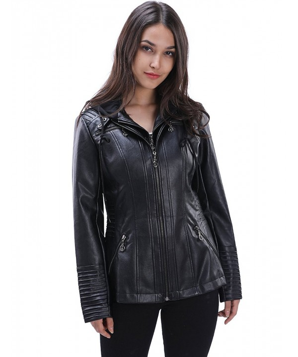 Fancyqube Leather Removable Jackets Outwear