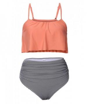 Foryingni Womens Ruffled Waisted Swimsuit