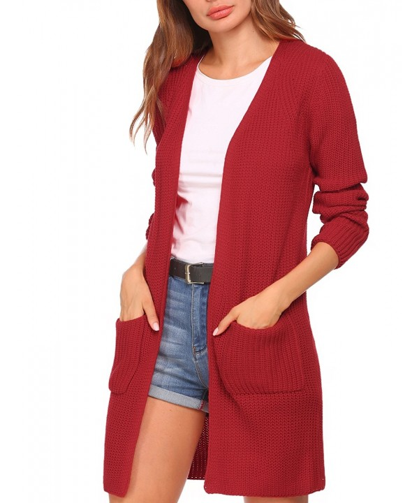 Zeagoo Womens Cardigan Sweater Outwear