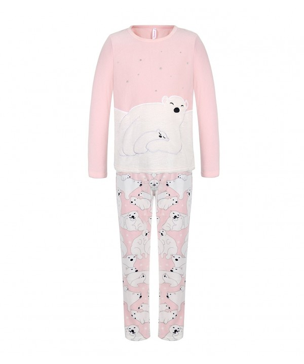 DOYOMODA Womens Sleepwear Fleece Pajamas