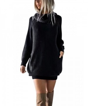Simplee Turtleneck Oversized Pullover Sweater