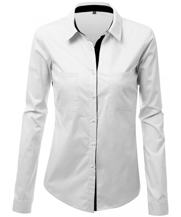 JZOEOEU Womens Collared Shirts 2X Large