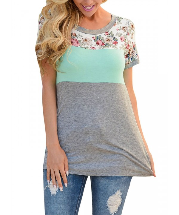 Itsmode Summer Sleeve Casual Blouses
