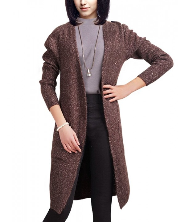 DELUXSEY Blend Cardigan Sweaters Women