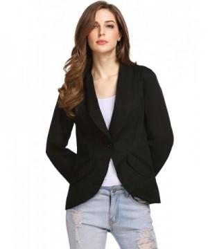 GEESENSS Womens Collar Button Casual