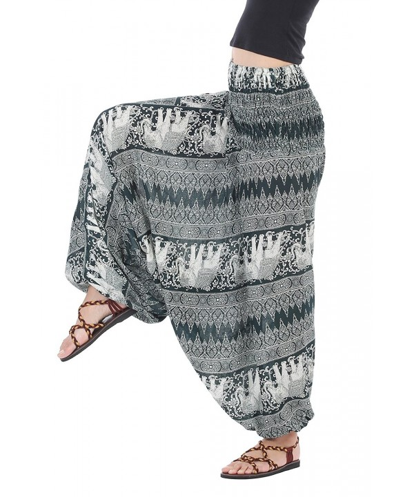 CandyHusky Hippie Elastic Jumpsuit Elephant