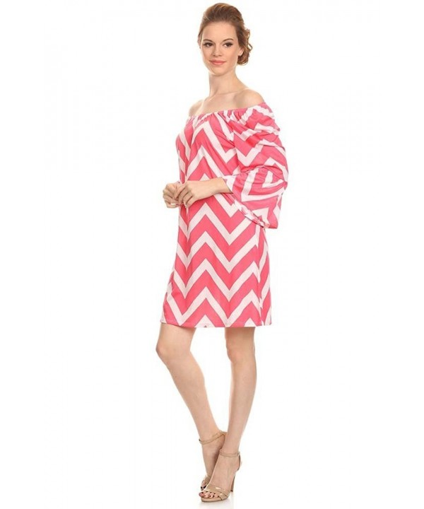 Womens Chevron Print Line Dress
