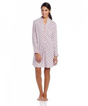 White Orchid Womens Mandarin Sleepshirt