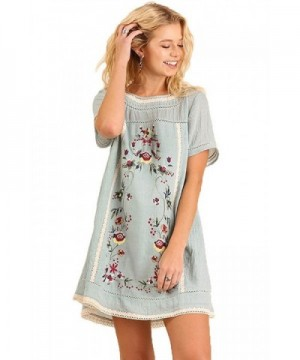 Umgee WomenS Casual Bohemian Embroidered