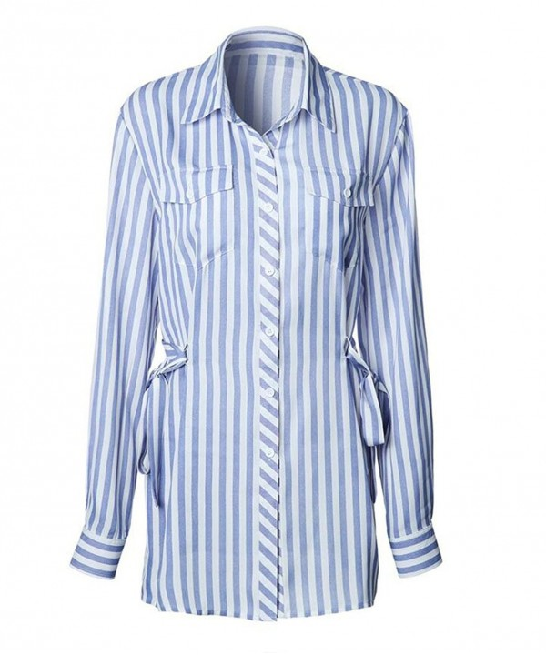 Ellie Hebe Womens Chiffon Striped