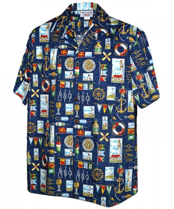 Nautical Sailing Lighthouses Hawaiian Shirt