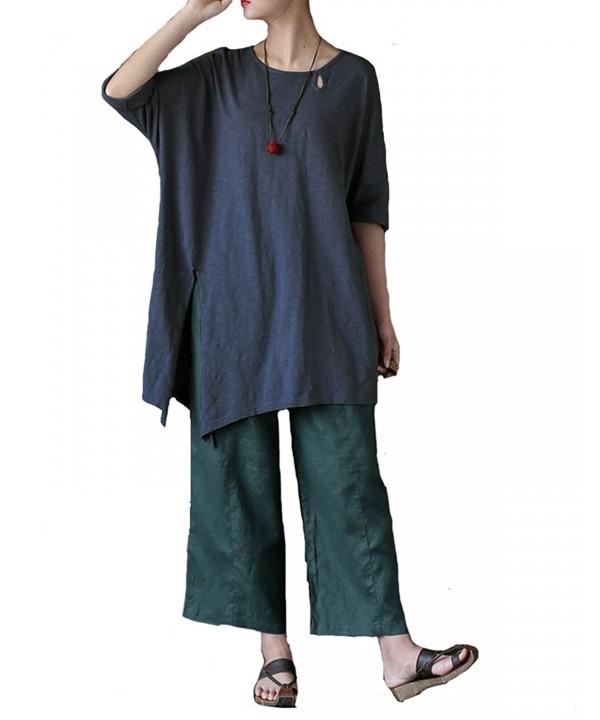 Aeneontrue Womens Irregualr T Shirts Blouses