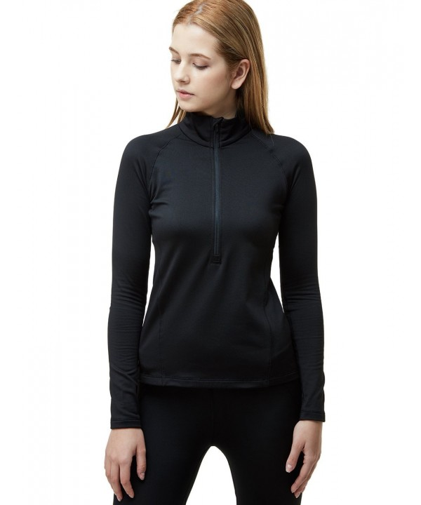 TM XKZ02 BLK_Medium Tesla Womens Winterwear Pullover