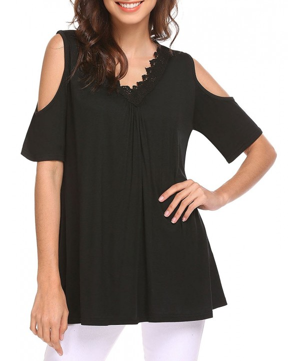 Mofavor Womens Casual Shoulder Blouses