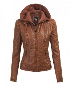 WJC1044 Womens Leather Quilted Motorcycle
