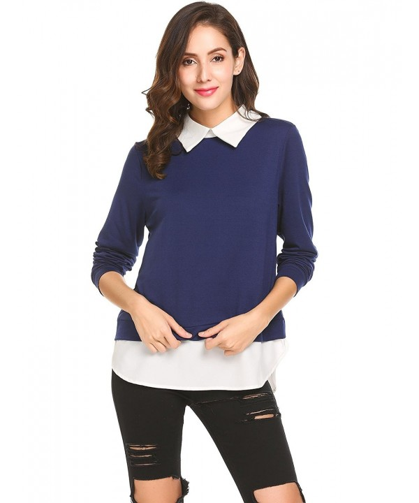 Easther Womens Casual Sweatshirt Pullover