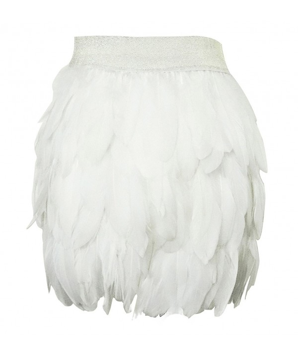 Lvow Women Natural Feather Fashion