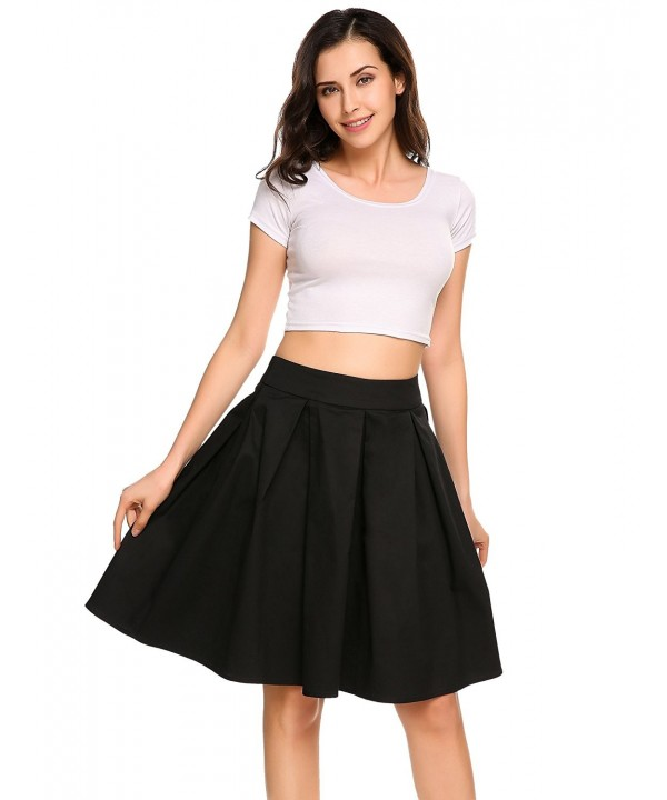 Shine Pleated Vintage Waisted Skirts