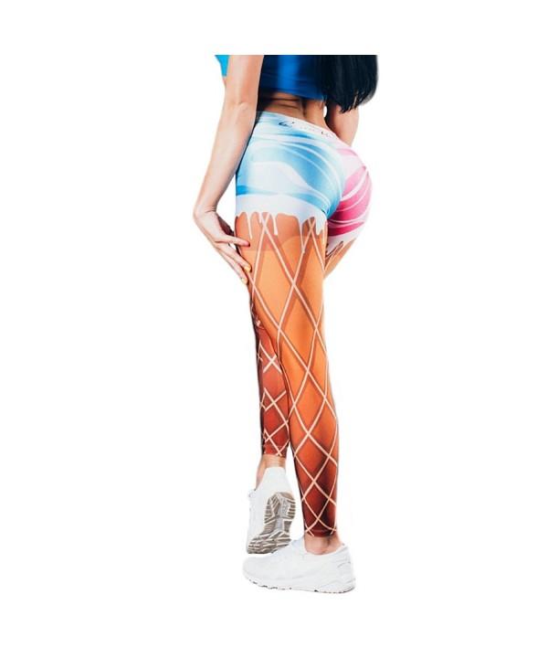 Itopfox Womens Digital Print Leggings