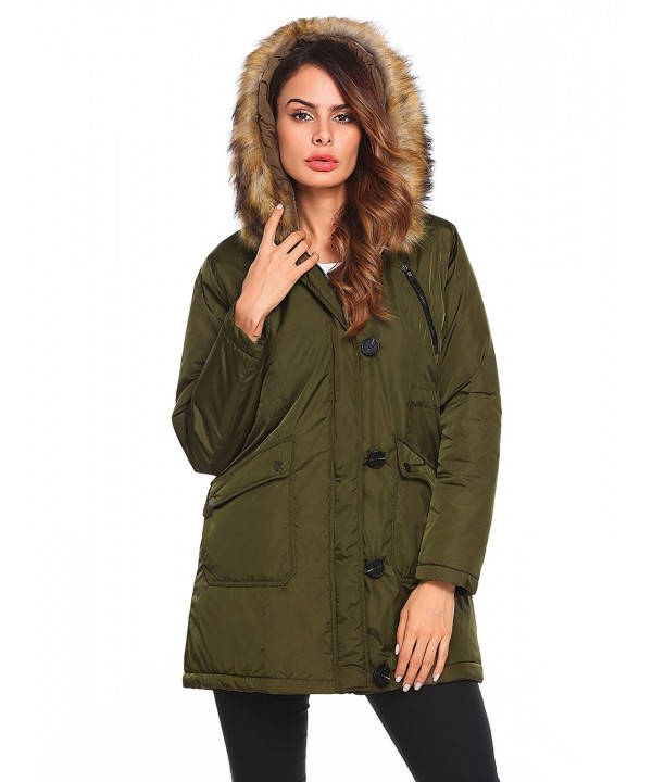 Anhoney Womens Military Hooded Anroaks