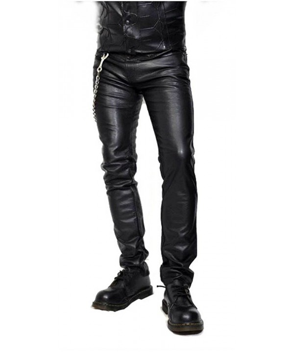 Tripp Black Leather Motorcycle Skinny