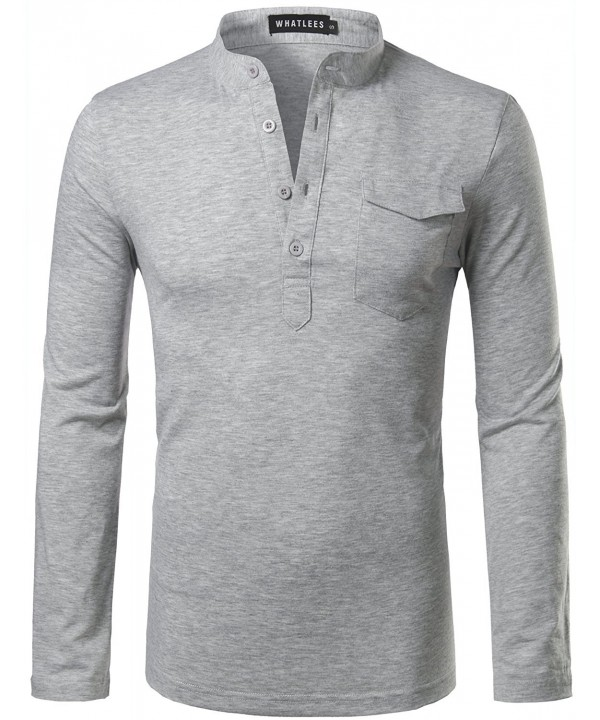 Hipster Basic Henley Sleeve Pocket