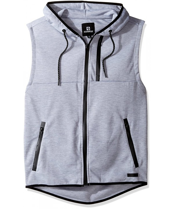 Southpole Fleece Hooded Sleeveless Heather