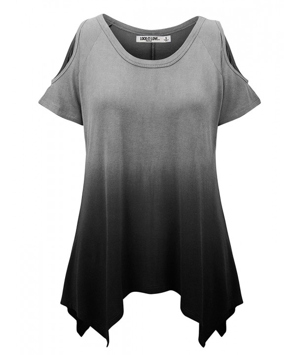 WT1093 Womens Ombre Sleeve Shoulder