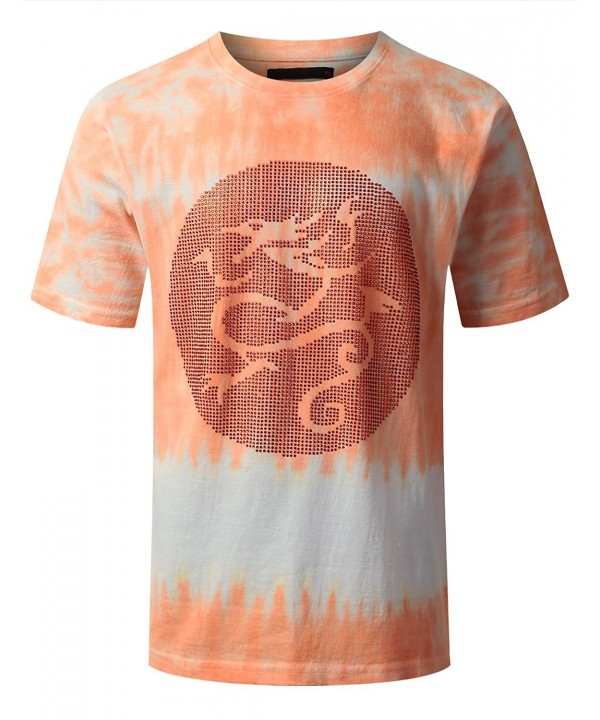 URBANCREWS Hipster Dragon Rhinestones T Shirt