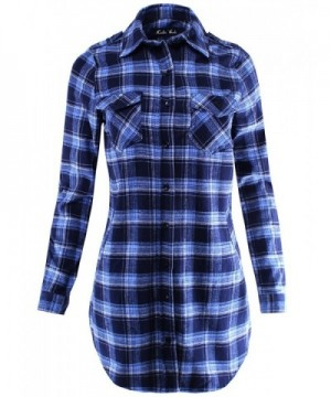Flannel Plaid Shirt Dress Sleeve