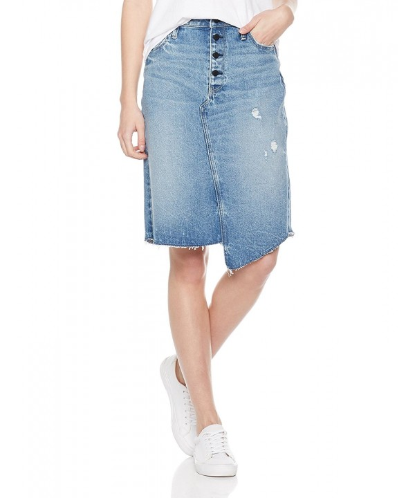 HALE Womens Tomi Button Skirt
