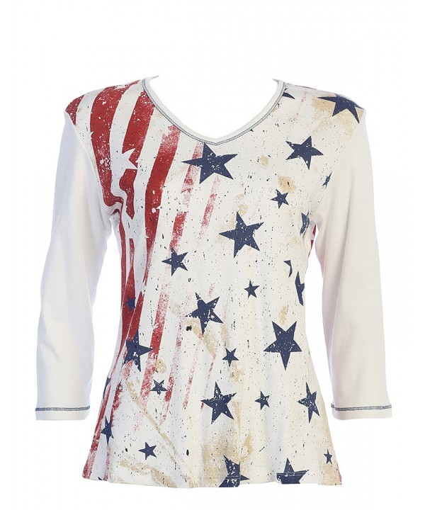 Jess Jane Stars Stripes White