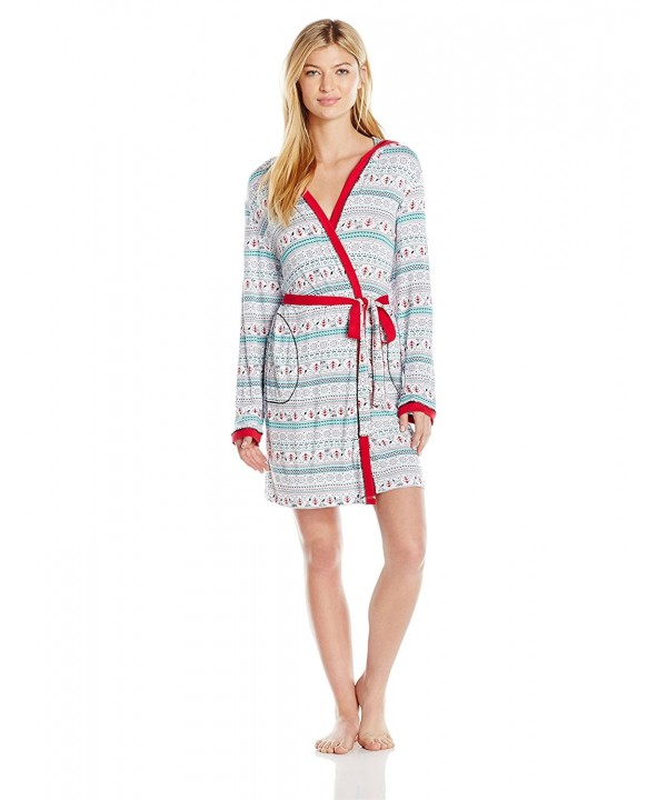 Peanuts Womens Short Knit Robe