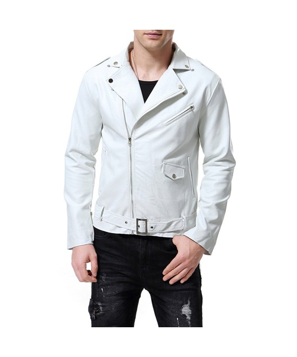 AOWOFS Leather Jacket Stylish Motorcycle