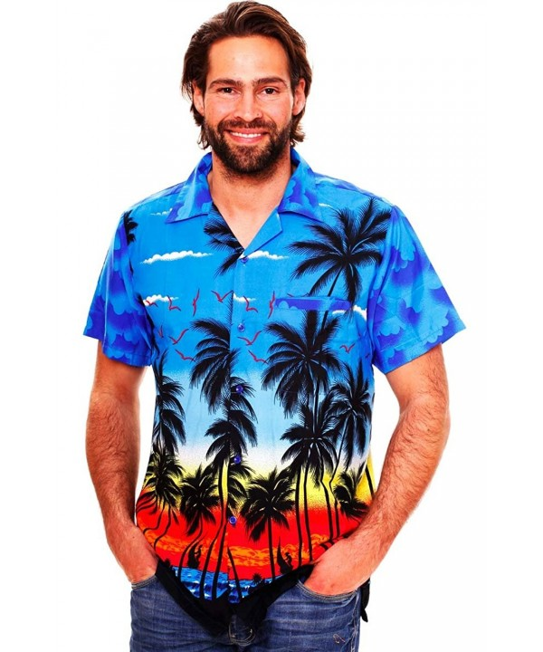 Funky Hawaiian Shirt Beach blue