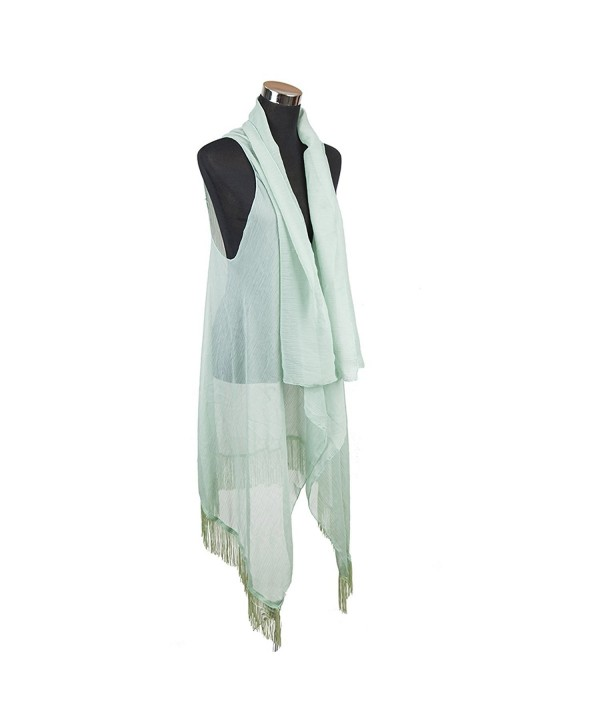 International Chiffon Tassel Kimono Layered