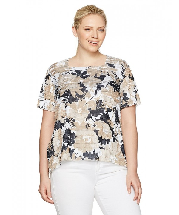 Alfred Dunner Womens Petite Tiered