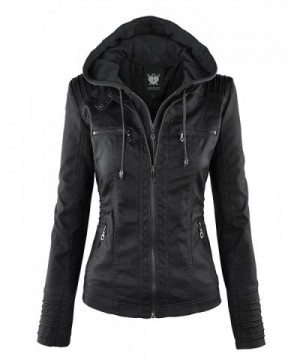 WJC663 Womens Removable Hoodie Motorcyle