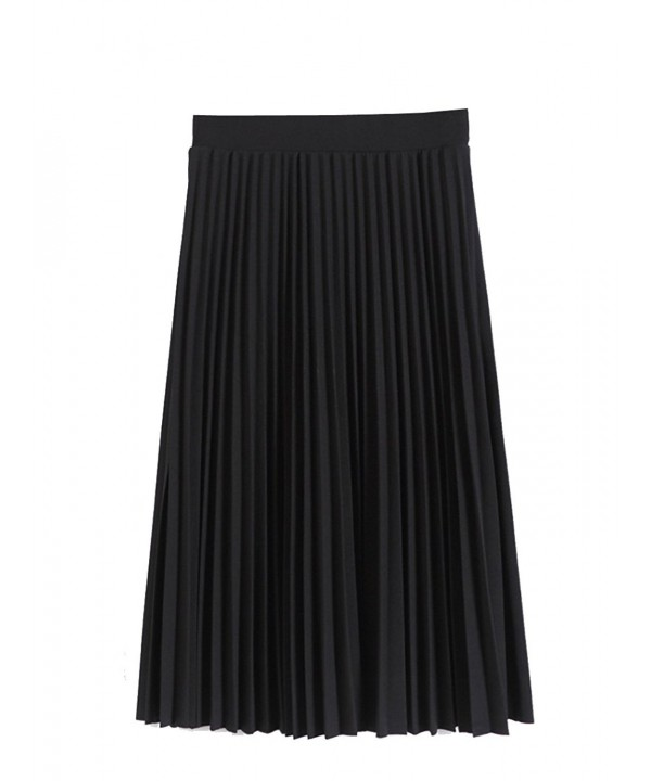 Women Pleated Winter Skirt Medium