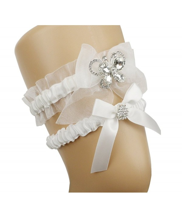 Topwon Wedding Garters Keepsake Butterfly