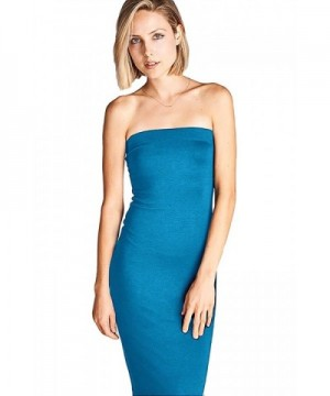 DNA Couture Strapless Bodycon Turquoise