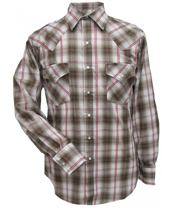 ELY CATTLEMAN Sleeve Plaid Western