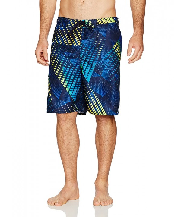 Laguna diffraction Patterned Boardshort Yellow