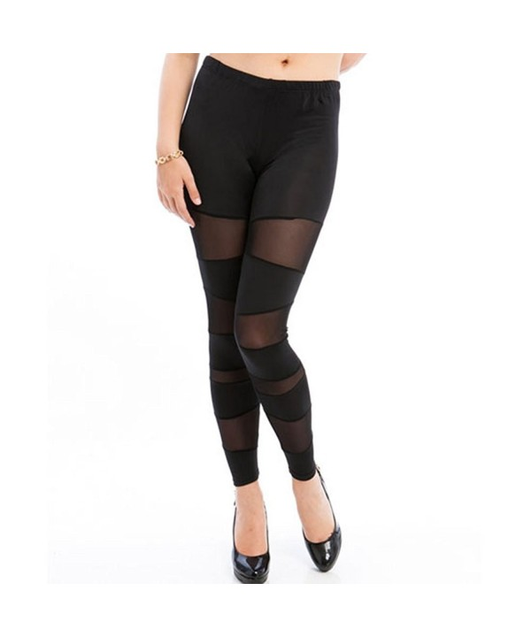 842 Sheer Panels Stretchy Leggings