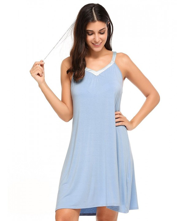 Langle Chemise Nightgown Sleeveless Sleepwear