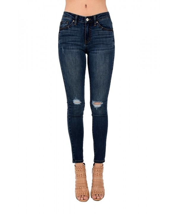 Womens Destroyed Skinny Jeans KC5010D