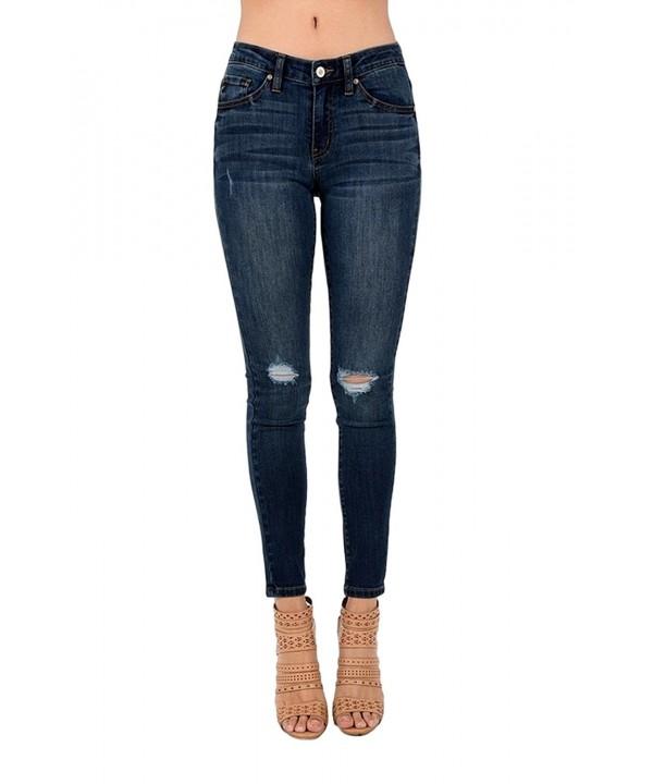 Womens Destroyed Skinny Jeans KC5010D