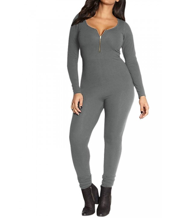 VamJump Womens Sleeve Jumpsuits Playsuit