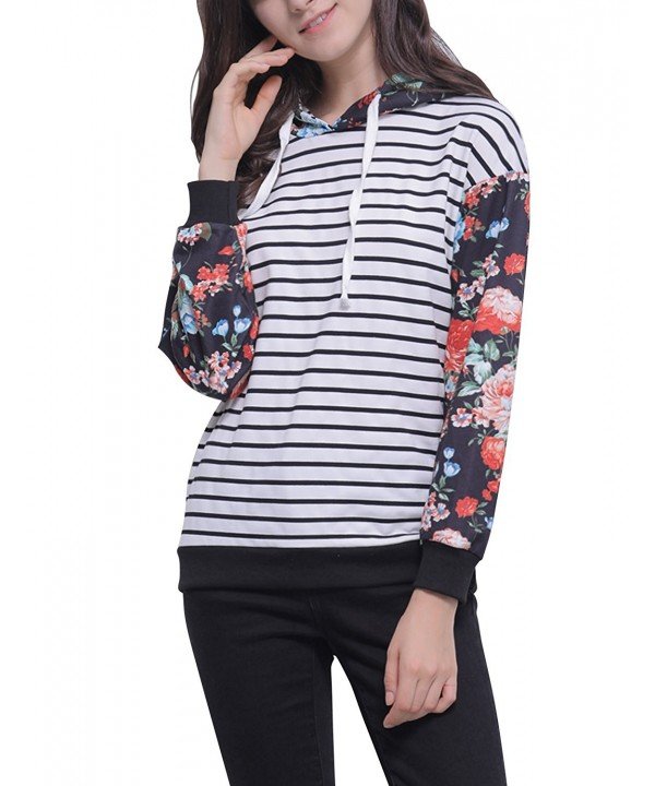 Blooming Jelly Striped Pullover Sweatsirts