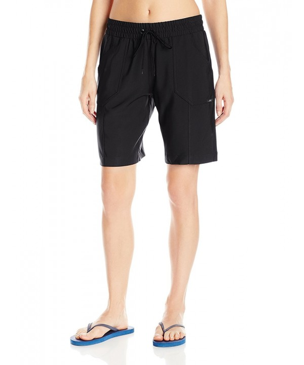 JAG Womens Solid Boardshort Black